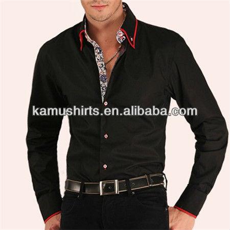 Top Venta Estilo Italiano hombres Camisas Moda 7 Camicie