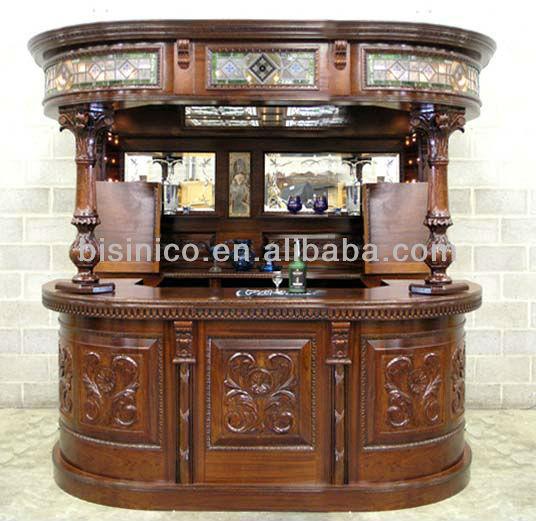 Antique Solid Wooden Bar Funiture Bar Cabinet Bar Chair