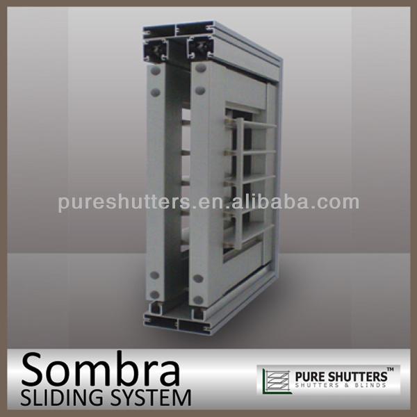 Ss012002 sliding aluminium interior security shutter buy aluminium interior security shutters for Interior window security shutters