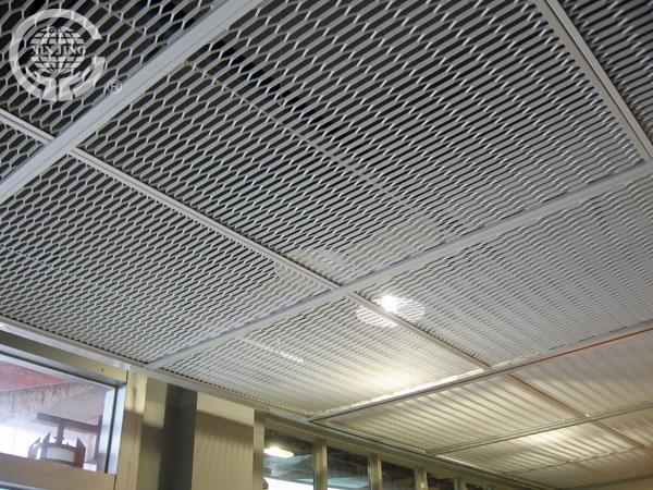falso techo de aluminio de malla estirada