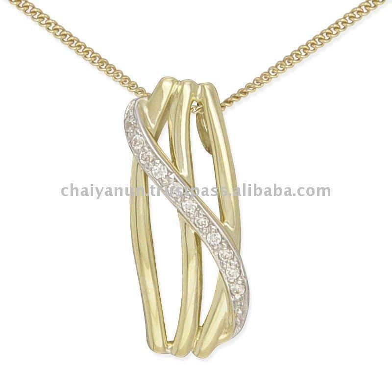 Hot Selling Girl\'s Diamond Gold Heart Pendant - Buy Heart Pendant ...