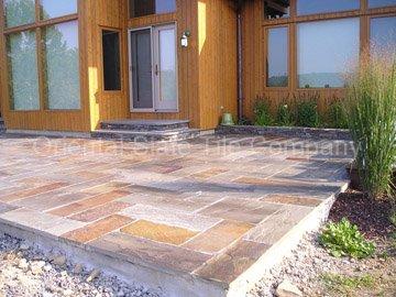Black Slate Patio Floor Tile With Natural Split Surface