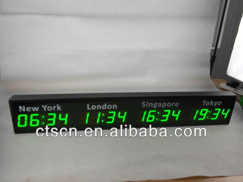World Time Wall Clock Digital Led World Clock Buy Led