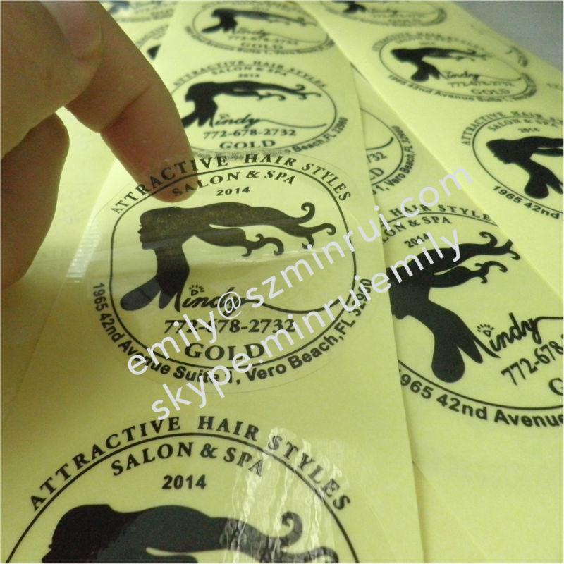 Custom Big Size Transparent Vinyl Seal Stickers PrintingRound - Custom vinyl stickers transparent