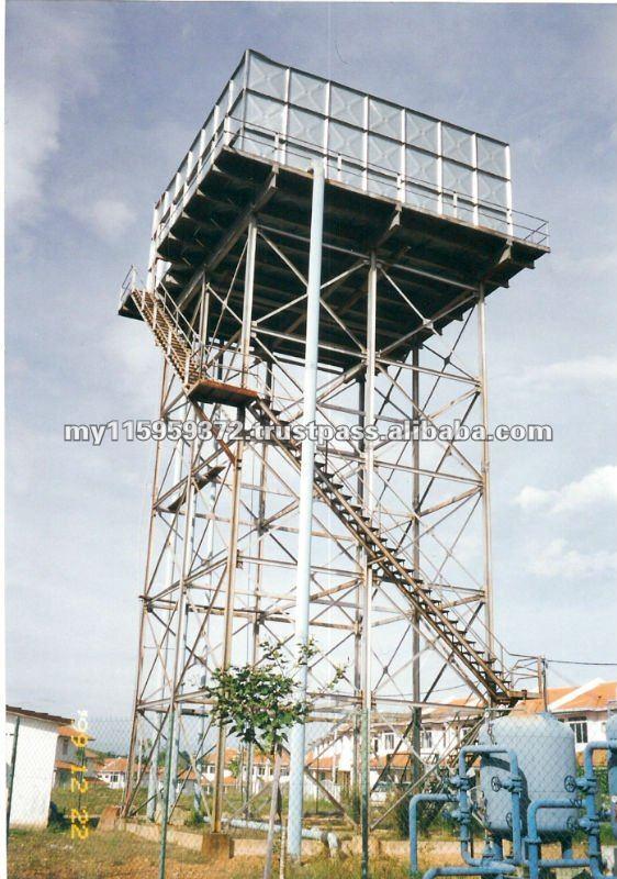 Elevated Water Tank : Elevated steel tower water tank buy