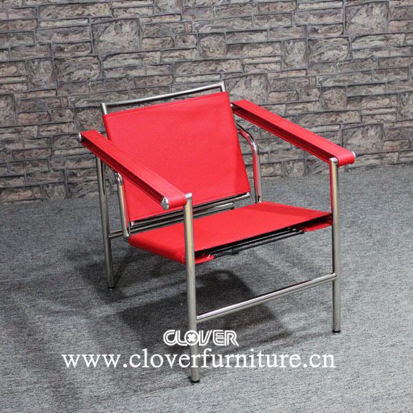 Replique Le Corbusier LC1 Chaise En Cuir Rouge