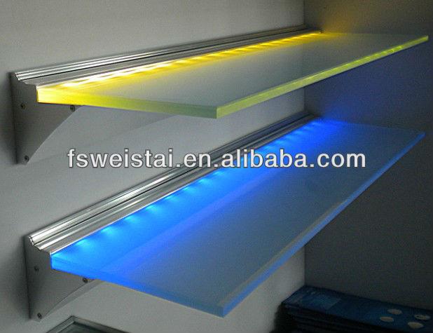 led glas plank verlichting gebruik in keuken hotel boekwinkel kabinet bar