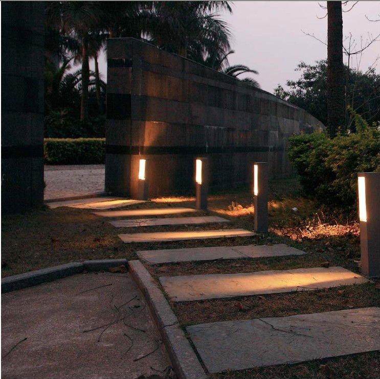 square fashion pure aluminum gu10 bollard light gu10 pillar light gu10 bollard light - Bollard Lights