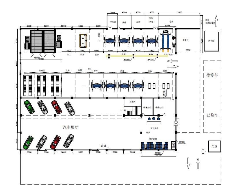 Design helps you build your workshop buy auto service for Truck repair shop floor plans
