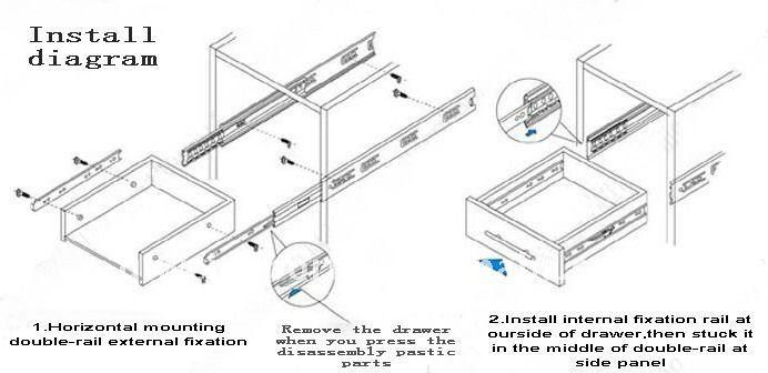 400mm Full Extension Heavy Duty Ball Bearing Drawer Slide