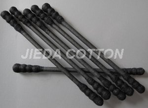 150 Pcs Black Cotton Swabs(spiral tipped)