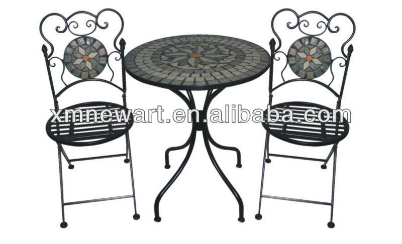 2016 Patio Mosaic Tile Metal Garden Table And Chair Cheap Outdoor Cast Iron Garden  Furniture. 2016 Patio Mosaic Tile Metal Garden Table And Chair Cheap Outdoor