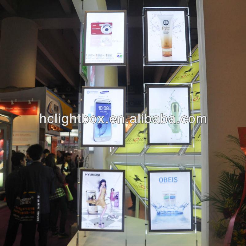 Decke Hängen Plakatrahmen Led Licht Fenster Anzuzeigen - Buy Decke ...