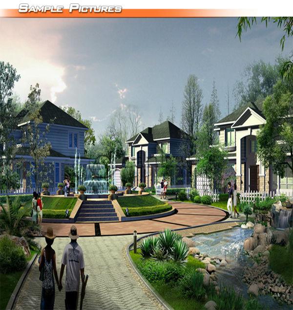 Models Homes Villa Landscape Design