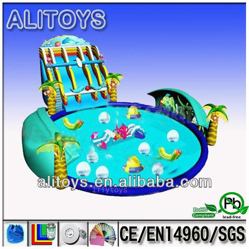 Juegos De Agua Inflable Gigante Parque Acuatico Juegos Para Ninos Y