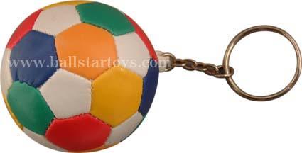 Vinyl stuffed Soccer Keychains