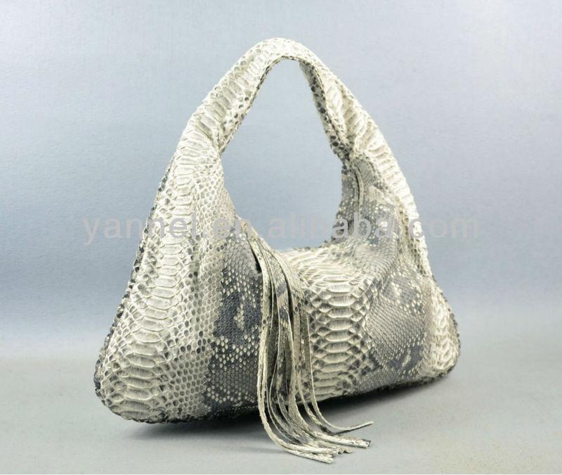 Exotic Skin Lady Hobo Bag Python Handbags Purse
