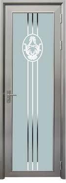 Decorative Glass Aluminium Alloy Toilet Doorbathroom Doorshower