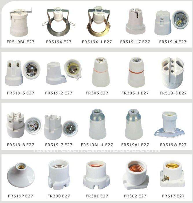 Good Design Edison Holder Lamp Base E27,Porcelain Lamp Holder ...