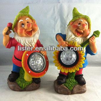 New Solar Garden Gnomes,Gnome Figures,Solar Light Figurine For Garden  Decoration