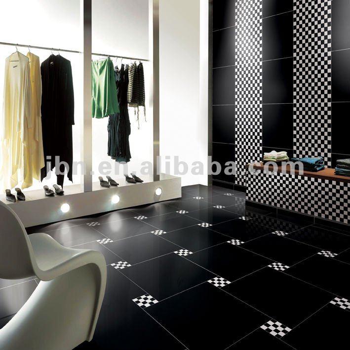 24x24 High Gloss Supe Black Homogeneous Polished Porcelain ...