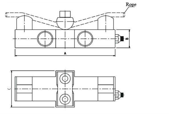 belt wire pressuremeter rope tension meter measurement equipment