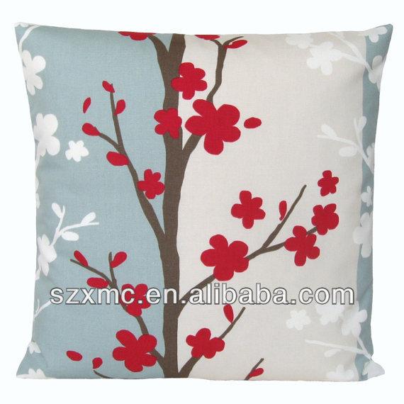 Flower Design For Pillow Cover: Nordic Blossom Pillow Cover Burst Flower Design Custom Floral    ,