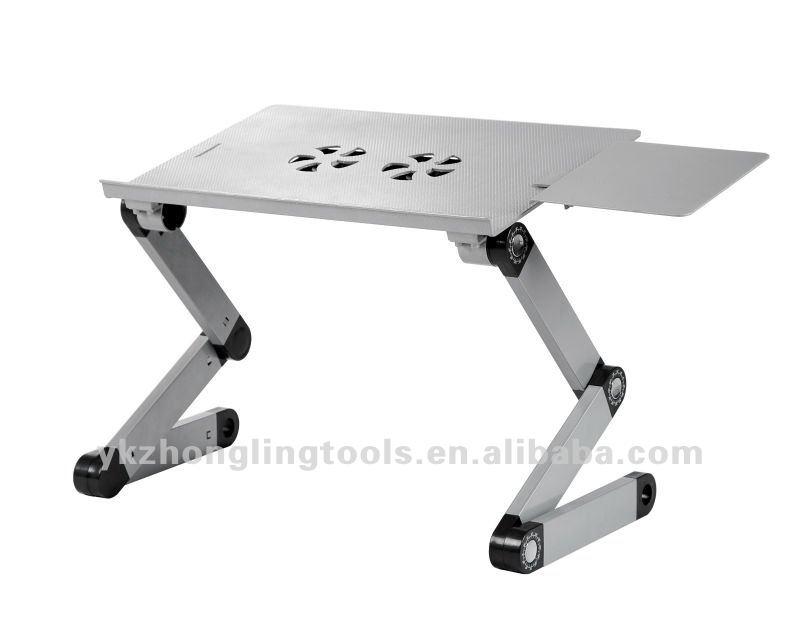 Plegable de mesa port til para computadora con ventiladores de refrigeraci n y el rat n de la - Mesa para ordenador portatil ...