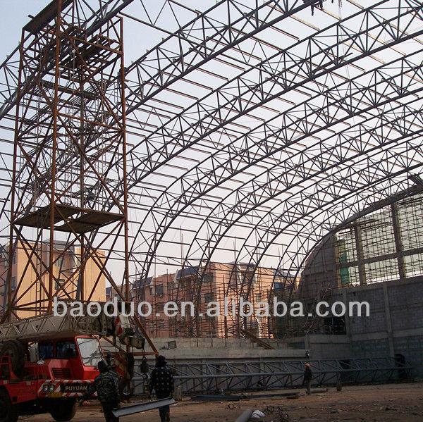 Large span prefabricated steel roof truss buy for Prefabricated truss