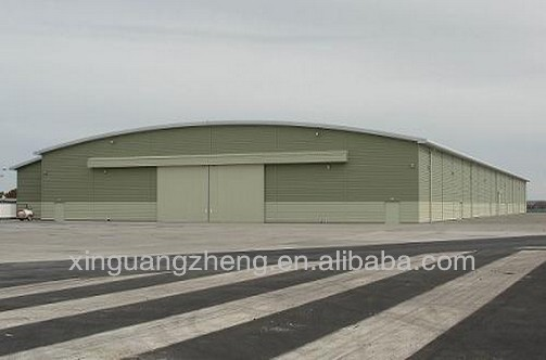 Light steel arch roof structure arch hangar