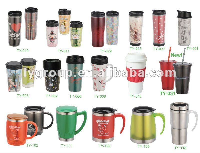 12oz Plastic Paper Insert Thermal Coffee Mug 350ml Advertising Cup