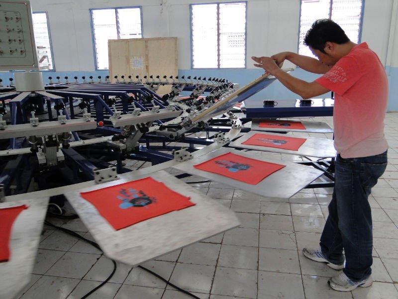 T Shirt 8 Color 8 Station Semi Automatic Rotary Screen Printing Machine Screen Printing