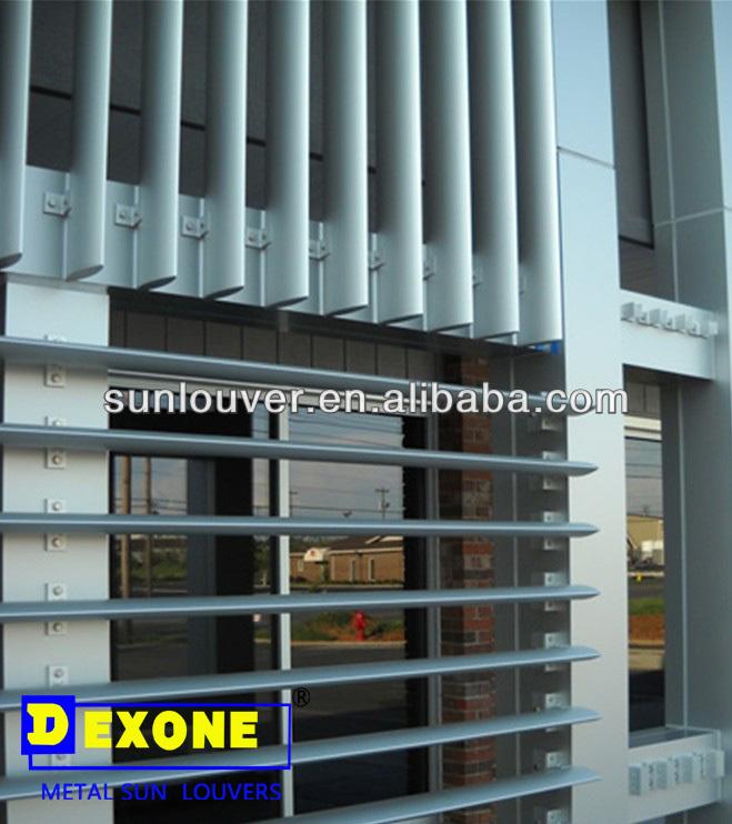 Aerofoil Aluminum Louvre Panels Profile As Curtain Wall