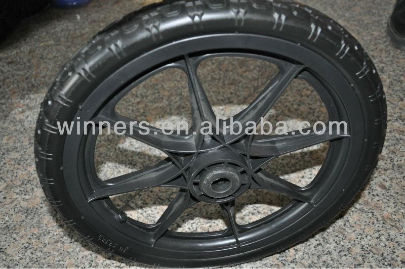 20 Inch Plastic Pu Foam Garden Cart Wheels With Ball Bearings