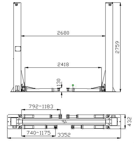 Automotive Lifts Dimensions : Two post manual lifting mechanism buy hoistmanual