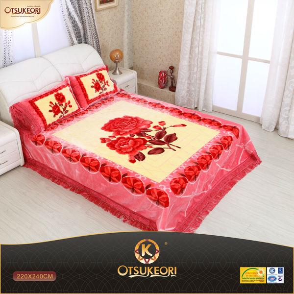 100 polyester korean raschel quality blanket bed sheet set