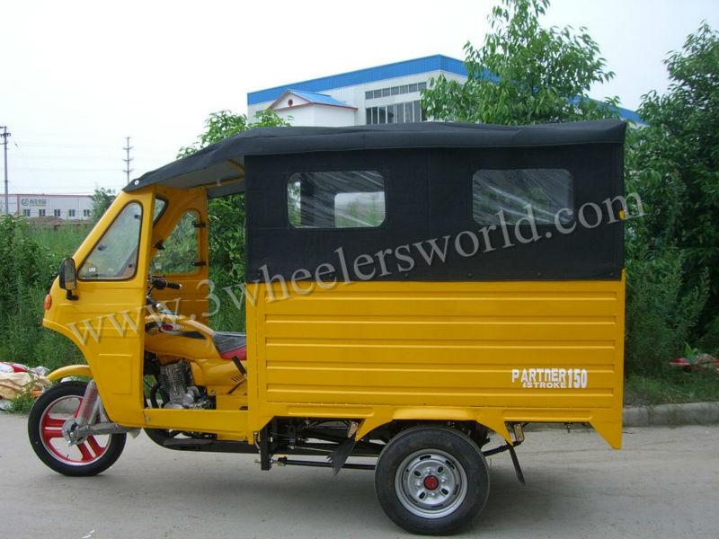 China Tipper Three Wheel Motorcycle Van For Sale In