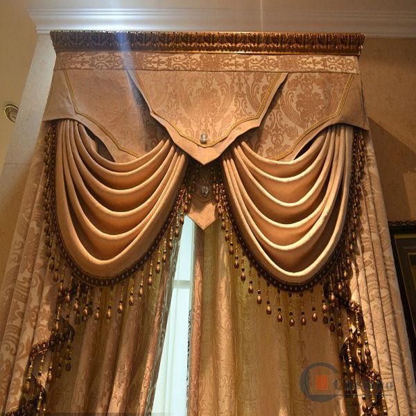 Latest window crown curtain design living room drapery curtain - Latest Window Crown Curtain Design Living Room Drapery Curtain