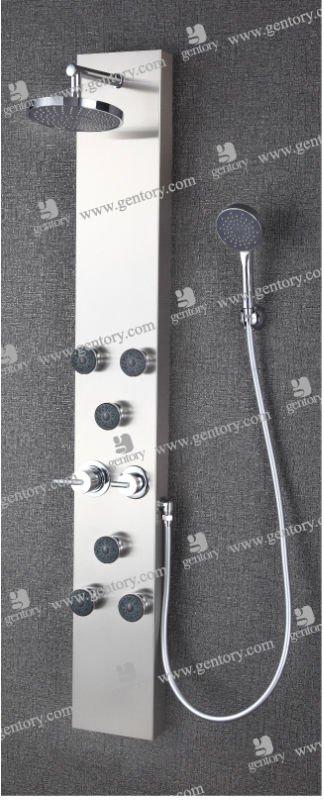 Sanitary Ware Sliding Bars Stainless Steel Shower Panel S066 Bar