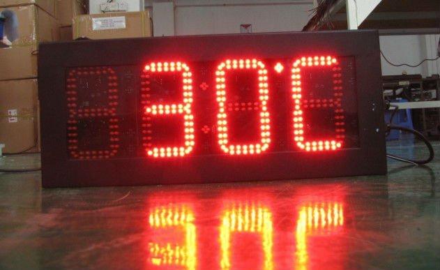 12 Gps Led Temperature Display Board 7 Segment Indoor