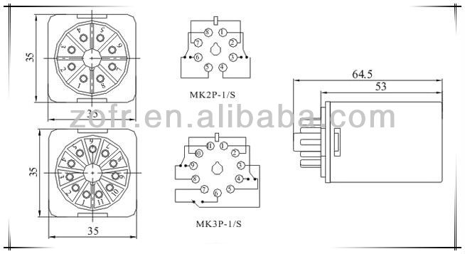 OMRON type MK2P 8 PIN relay  sc 1 st  Alibaba : 8 pin relay wiring diagram - yogabreezes.com