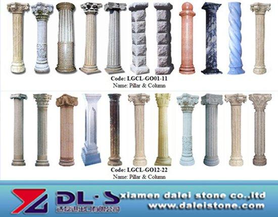 Stone roman pillar and column buy roman pillar stone for Where to buy columns for house