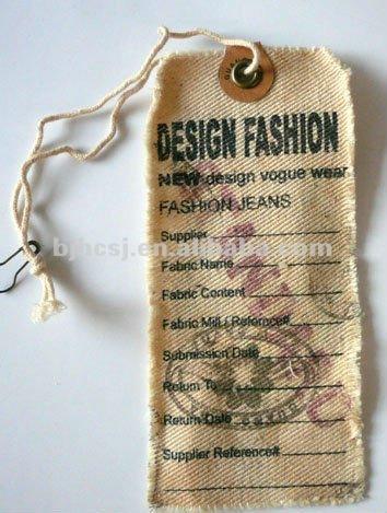 Durable Canvas/cloth/fabric Hang Tag - Buy Canvas Hang Tag,Cloth ...