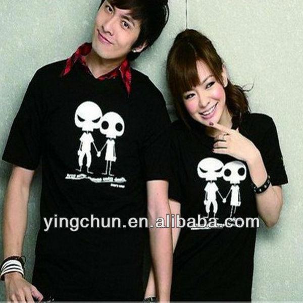 hot korea fashion cute couple tshirt wholesale buy
