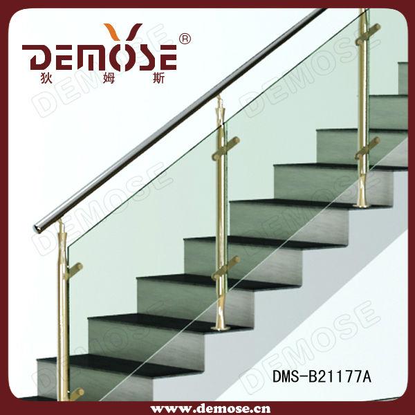 cristal barandilla de la escalera curva