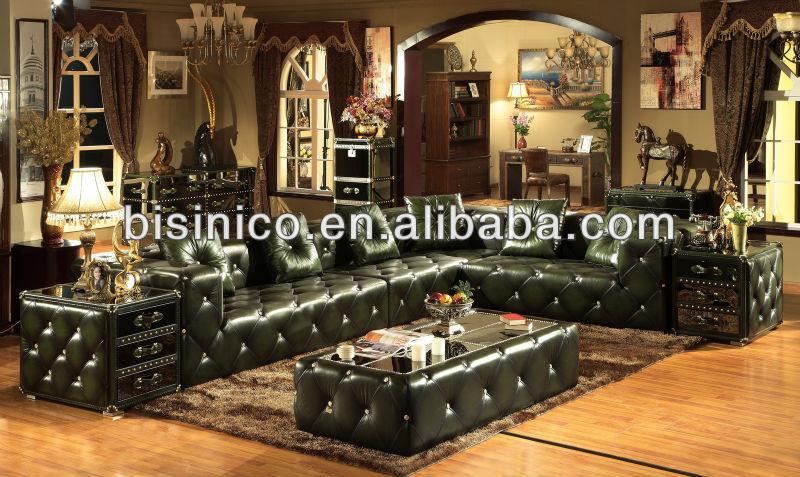 style am ricain salon en cuir v ritable canap moderne meubles de salon b14216 buy salon. Black Bedroom Furniture Sets. Home Design Ideas