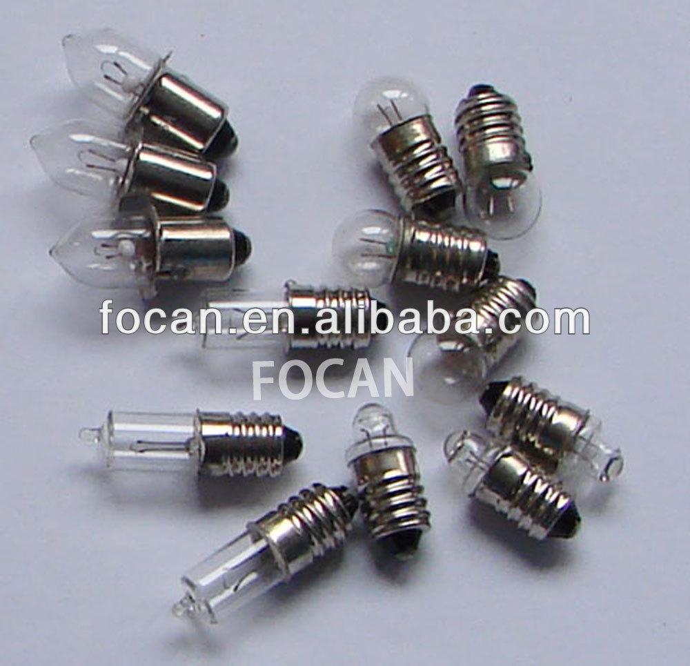 E10 Screw Base Flashlight Bulb With 3 5v 4 8v 6v 8v 12v