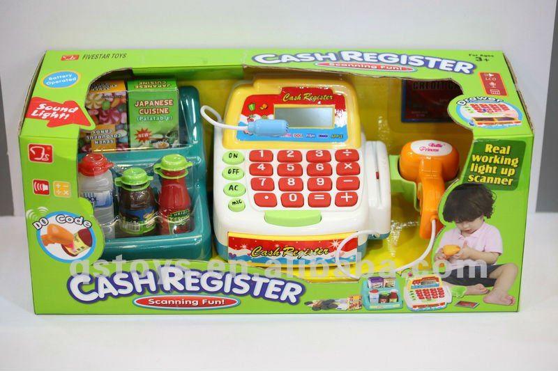 Pl stico caja registradora electr nica juguete para ni os - Caja registradora juguete ...