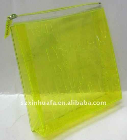 (XHF-PVC-037) promotional clear pvc cosmetic bag