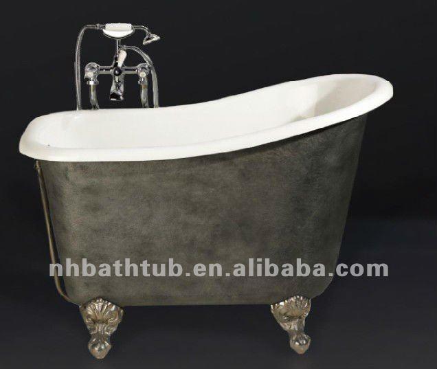 Deep Cast Iron Tub Part - 20: Deep Cast Iron Bath/ Small Bathtub/ Freestanding Tub With Skirt